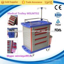 MSLMT02 Chariot médical d'hôpital chariot d'urgence chariot d'urgence médicale