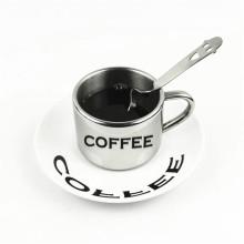 Insulated Stainless Steel Heart Shaped Coffee Mug
