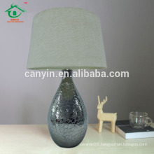 Ceramic table lamp with round base