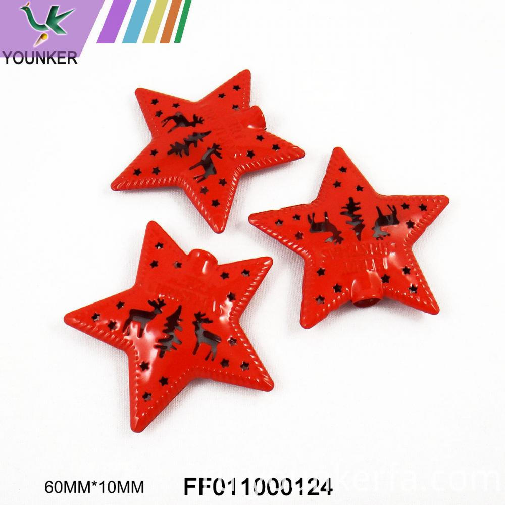 Red Star Metal Ornament