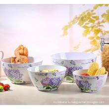 (BC-MB1035) High Quality Reusable Imitation Porcelain Melamine Bowl Set