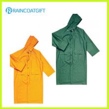 Прочный желтый ПВХ полиэстер дождь куртка