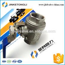 JKTL2B019 manufacture 2 piece floating cast iron segment ball valve
