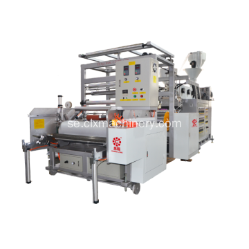 PE Film Dubbelskruv Extruder Plastic Stretch Film Machine