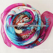lenço de seda chiffon de moda