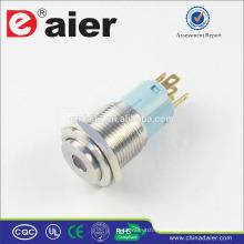 Daier LAS3-16H-11D Dot LED interruptor de botón de acero inoxidable