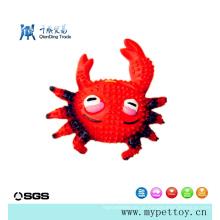 Brinquedo de látex de látex de caranguejo de alta qualidade para animais de estimação