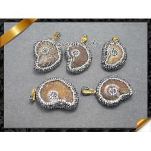 Оптовые кристаллические ожерелье ювелирных изделий привесное для подарка (EF0103)