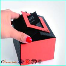 Embalaje de lujo hecho a mano de la caja del perfume