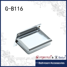 Glass fitting-Square bevel 90 degree - wall to glass clamp hinge