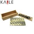 Mini madeira marfim dominó com pontos pretos atacado