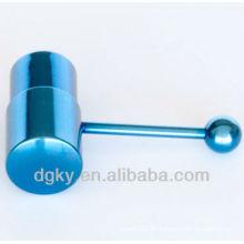 Nueva barra de la lengua del calibrador de la joyería del cuerpo vibrante azul del diseño