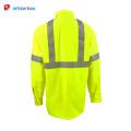 Chemises de sécurité vertes avancées en gros