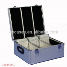 CD de alta calidad y fuerte 600 discos aluminio CD caso ventas por mayor de China fabricante