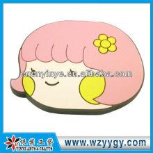 Sorriso cara Cartoon Pvc espelho para menina festa decoração