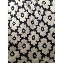 Spandex cotton double side jacquard knit fabric