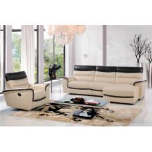 Canapé salon avec canapé moderne en cuir véritable (443)