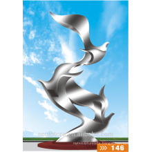 Large outdoor stainless steel sculpture modern metal sculptures jinhua manufacturer