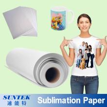 A3 A4 Roll sublimação impressão papel de transferência térmica para t-shirt