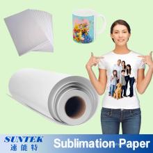 Papel de sublimação para impressão de transferência térmica para t-shirt de poliéster