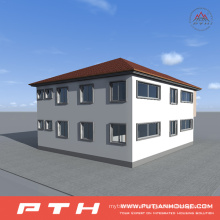 China Prefabricated Light Steel Village House as Modular Office Building