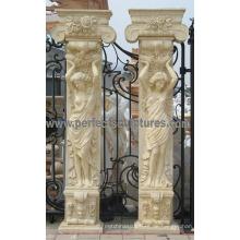 Veranda Säule mit Stein Marmor Granit Sandstein (QCM130)