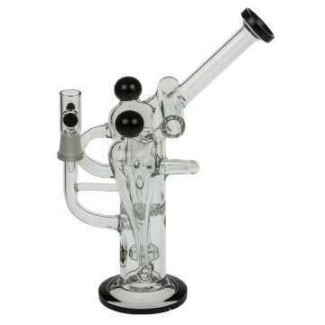 Tubulação de água de fumo do coletor do vidro de cinco câmaras (ES-GB-367)