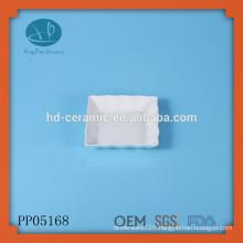 ceramic square wave shaped serving plate,wave rim square plate