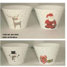 5inch ceramic bowl christmas artwork for BS12056