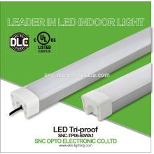 DLC UL CUL listed 60W industrial led tri proof light LEd tri-proof tube factory lighting