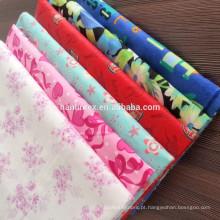 100% algodão tecido de flanela impressa