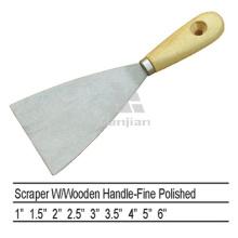 Sjsl37 Carbon Stahl poliert Holz Griff Schaber