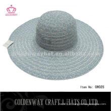 Stylish Lady Cheap Polyester Hats pour chapeau d'été promotionnel