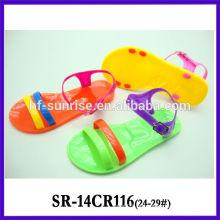 SR-14CR116 claro sandálias de geléia crianças sandálias de plástico últimas crianças novas sandálias de geléia por atacado