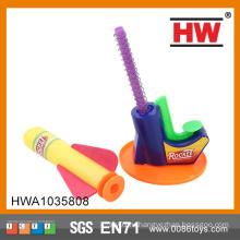 (Оранжевый, зеленый, синий) Смешные Открытый 19см EVA Ракетная игрушка