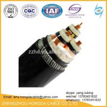 Cable de acero del cable de transmisión de YJV XLPE blindado y cable de la pantalla de la cinta del Cu HV