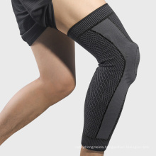 Wholesale Sports Knitted Knee Pads Basketball Running Silicone Warm Knee Support Knee Pads