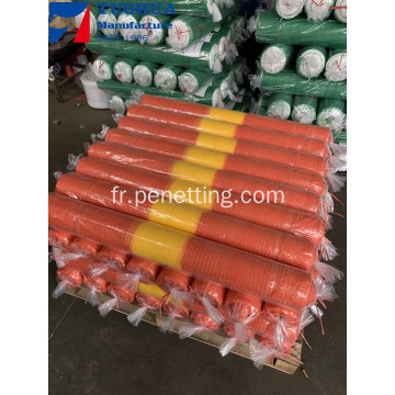 Filet d'alerte de sécurité en plastique HDPE orange