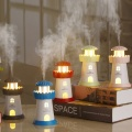 Humidificateur d'air USB en forme de phare LED Mini