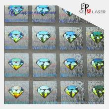Holographischer Diamant LOGO Label Expo, die mit Parfüm Verpackung