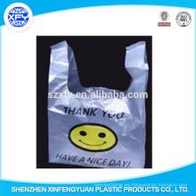 Chaleco bolsa de plástico con el logotipo sonrisa