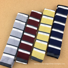 Schöne Kombination Streifen Seide gestrickte Krawatte Luxus handgemachte Herren Krawatten
