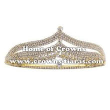 Clear Rhinestone Wedding Bridal Crown Hair Band