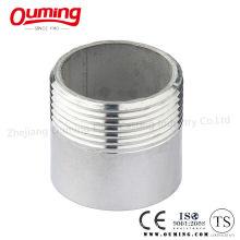 Stainless Steel Half Thread Round Pipe Nipple