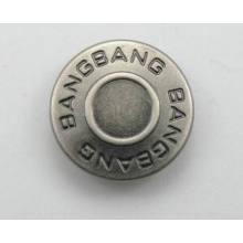 Design de botão jeans prata agradável em estilo cool