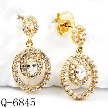 Dernières boucles d'oreilles en or 925 Bijoux en argent (Q-6845)