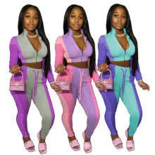 C7171 New Women Yoga Sets Fitness 2piece Outfit Fall Clothing Tank Top Apparel Workout Jogger Tracksuits Sets For Women