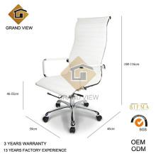 Silla de la oficina de la alta vida moderna nuevo cuero blanco (GV-OC-H306)