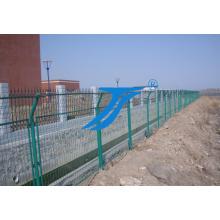 Galvanisiertes PVC überzog geschweißte Maschendraht-Zaun-Filetarbeit