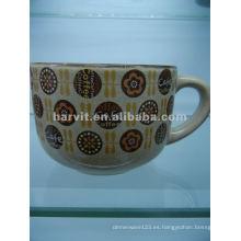 Taza de la sopa de cerámica del esmalte reactivo
